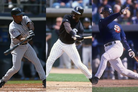 MLB時代のオーティズ氏、ホージー氏、アリアス氏(左から)【写真:Getty Images】