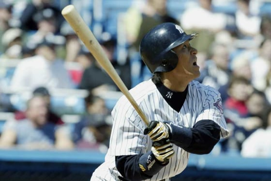 2003年にヤンキースに加入した松井秀喜氏【写真:Getty Images】