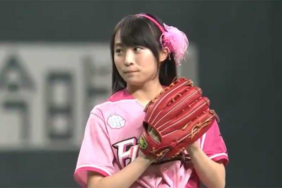 アイドルグループ「AKB48」チーム8に所属する坂口渚沙さん【画像:パーソル パ・リーグTV】