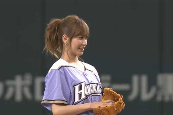 AKB48の元メンバーで、タレントの大島麻衣さん【画像:パーソル パ・リーグTV】
