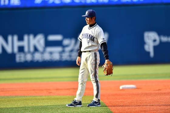 大洋のレギュラー三塁手として活躍した銚子利夫氏【写真提供:横浜DeNAベイスターズ】