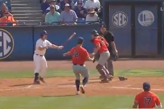 米大学野球で悲劇的な幕切れ(画像はスクリーンショットです)