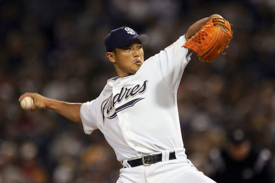 MLBではパドレス、レンジャーズで活躍した大塚晶文氏【写真:Getty Images】