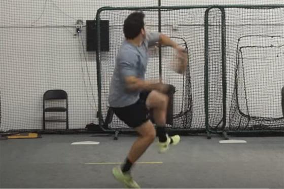 マイナーリーガーが驚愕の178キロを叩き出した(画像はスクリーンショット)
