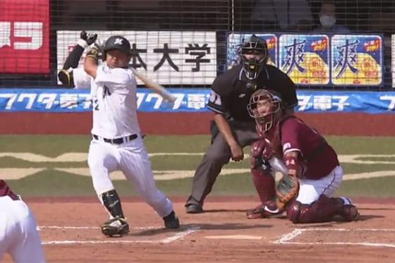 2本塁打と活躍したロッテ・佐藤都志也【画像:パーソル パ・リーグTV】
