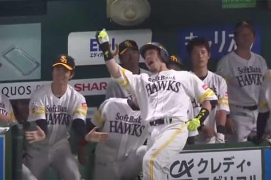 この試合2本塁打を放ったソフトバンク・松田宣浩【画像:パーソル パ・リーグTV】