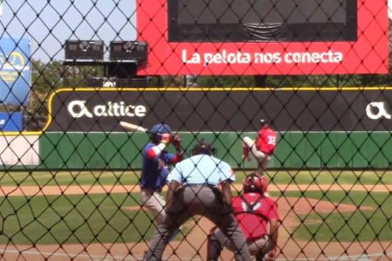 MLB主催イベントに登場した15歳が衝撃投球を披露(画像はスクリーンショット)