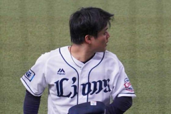 危険球退場となった西武・松本航【写真:宮脇広久】