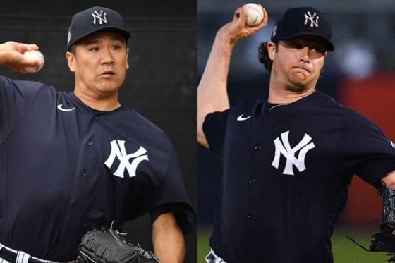 ヤンキース・田中将大(左)とゲリット・コール【写真:Getty Images】