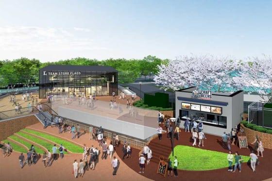 メットライフドーム1塁側に新設される「トレイン広場」【写真提供:埼玉西武ライオンズ】