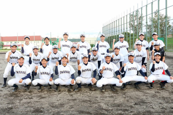 岩内高校の野球部員たち【写真:石川加奈子】