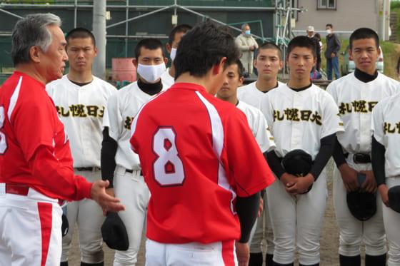 札幌日大はウイン北広島と交流試合を行った【写真提供:ウイン北広島】