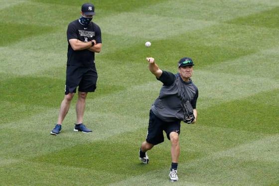 ヤンキース・田中将大(右)【写真:AP】