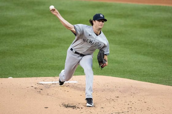 開幕投手を務めたヤンキースのゲリット・コール【写真:AP】