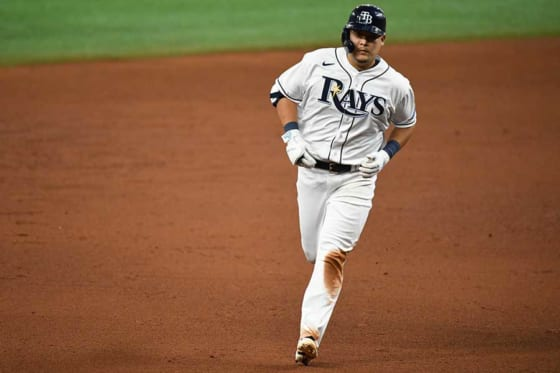 MLB初安打初本塁打を放ったレイズ・筒香嘉智【写真:Getty Images】