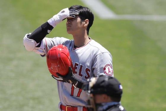 「3番・DH」で先発したエンゼルス・大谷翔平【写真:AP】