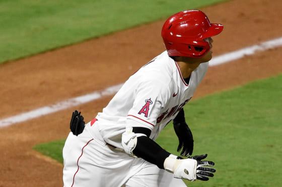 6回に今季初打点となる適時二塁打を放ったエンゼルス・大谷翔平【写真:AP】