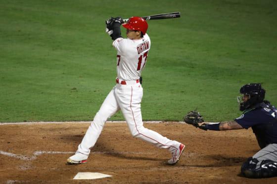 6回に今季初打点となる適時二塁打を放ったエンゼルス・大谷翔平【写真:Getty Images】
