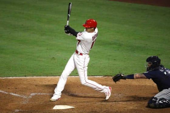 6回の第4打席で適時二塁打を放ったエンゼルス・大谷翔平【写真:Getty Images】