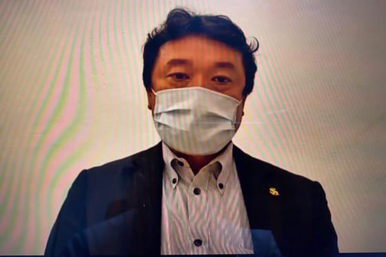 オンライン会見を行ったソフトバンク・三笠杉彦GM【写真:福谷佑介】