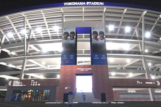 横浜スタジアムの外周も仮想空間で忠実に再現【写真提供:横浜DeNAベイスターズ】