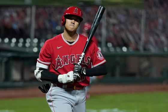 「5番・指名打者」で先発出場したエンゼルス・大谷翔平【写真:AP】