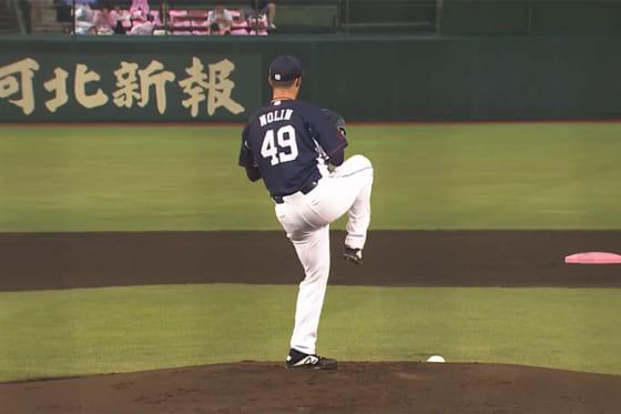 先発した西武のショーン・ノリン【動画:パーソル パ・リーグTV】
