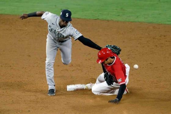 今季5個目の盗塁を決めたエンゼルス・大谷翔平【写真:AP】