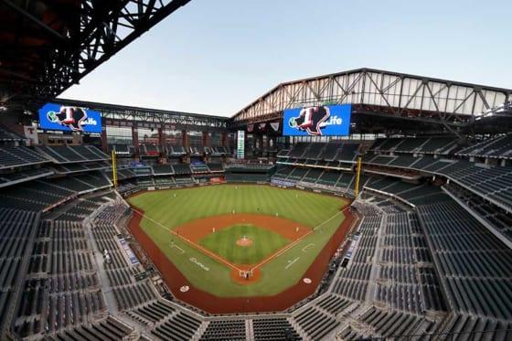 MLBのオープン戦が有観客で行われる可能性が出て来た【写真:AP】