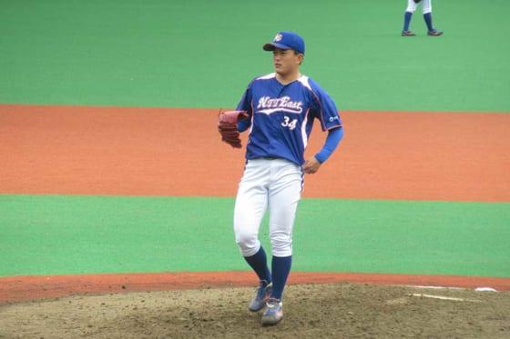 4番手で登板したNTT東日本・佐々木健【写真:安藤かなみ】