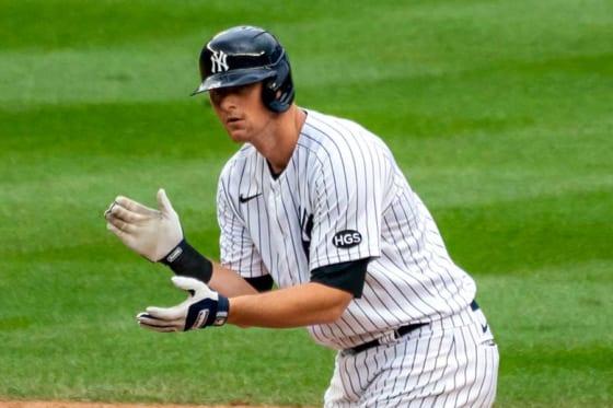 初の両リーグ首位打者を獲得したヤンキースのDJ・ルメイヒュー【写真:AP】