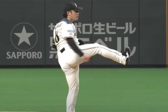 日本ハム・吉田輝星【画像:パーソル パ・リーグTV】
