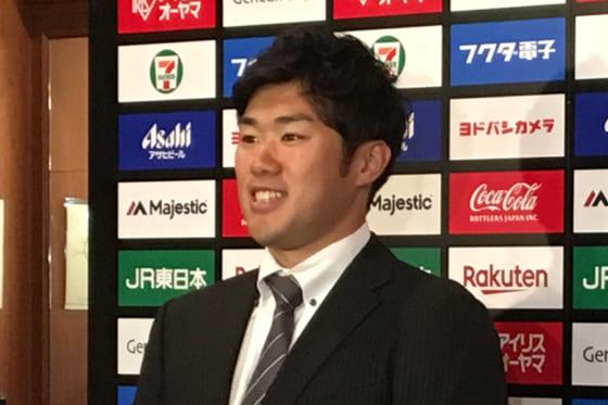 BC埼玉への入団が発表された佐藤由規【写真:高橋昌江】