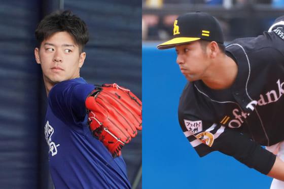 戦力外通告を受けるも阪神が獲得した鈴木翔太(左)と加治屋蓮【写真:荒川祐史】
