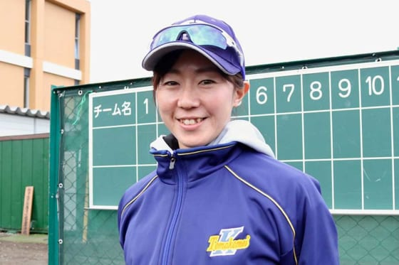 駒大苫小牧女子硬式野球部・佐藤千尋部長【写真:石川加奈子】
