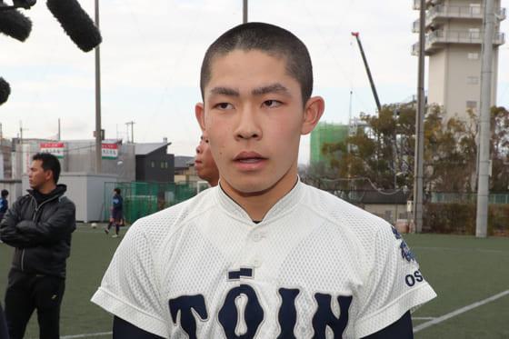 大阪桐蔭・関戸康介【写真:津高良和】