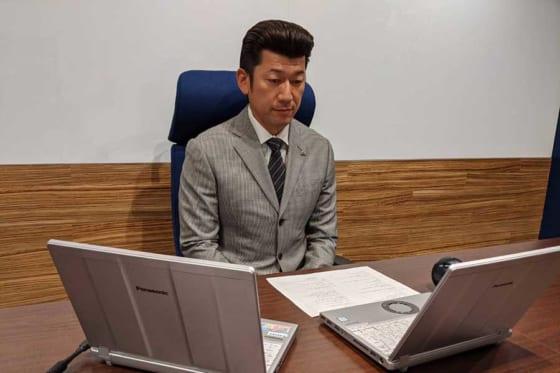 出身地の橿原市長とオンラインで対談した三浦監督【写真提供:横浜DeNAベイスターズ】