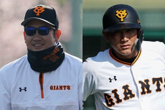 巨人・菅野智之(左)と小林誠司【写真:荒川祐史】