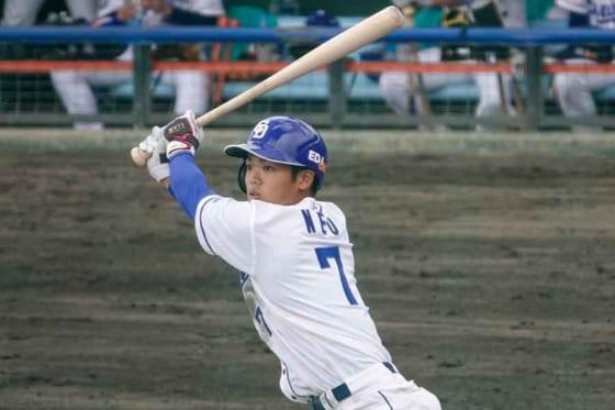 「1番・遊撃」で先発出場し3安打と活躍した中日・根尾昂【写真:小西亮】