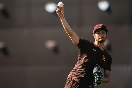 キャンプインしたパドレス・ダルビッシュ有【写真:Matt Thomas / San Diego Padres】