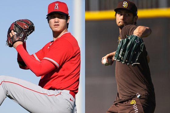 エンゼルス・大谷翔平(左)とパドレス・ダルビッシュ有【写真提供:Los Angeles Angels of Anaheim , Matt Thomas / San Diego Padres】