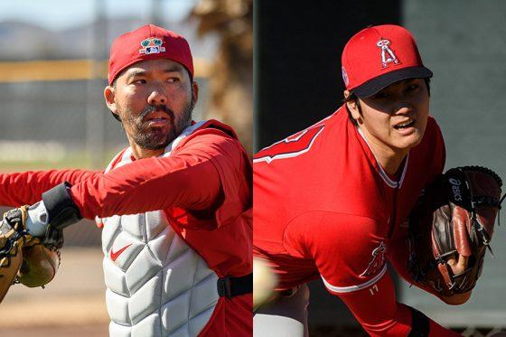 エンゼルスのカート・スズキ(左)と大谷翔平【写真提供:Angels Baseball】