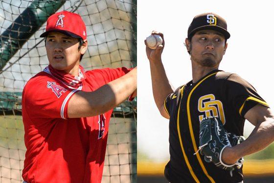 エンゼルス・大谷翔平(左)とパドレス・ダルビッシュ有【写真提供:Angels Baseball、Getty Images】