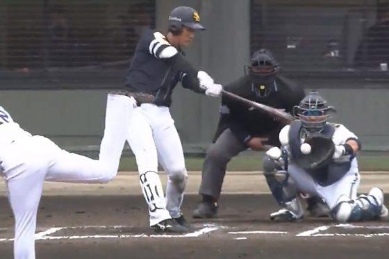 オリックス・山本由伸がフォークで空振りを奪う【画像:パーソル パ・リーグTV】