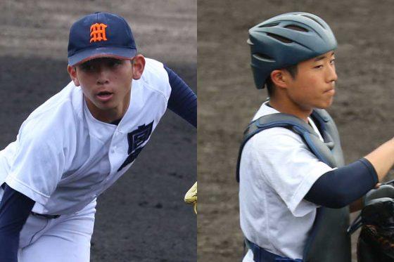 宮崎商・日高大空(左)と平松諒真【写真:編集部】
