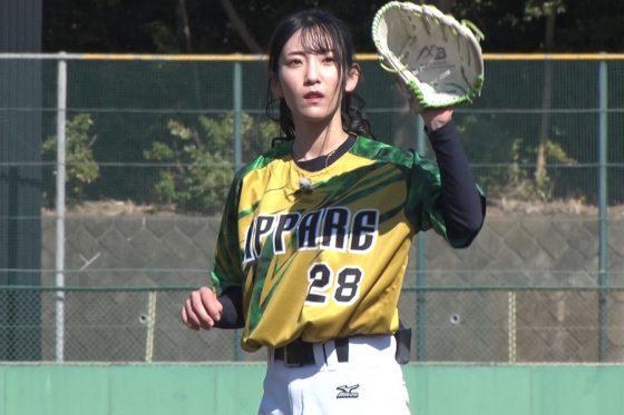 モデルで野球女子の椿梨央さん【写真提供:株式会社アカツキ】