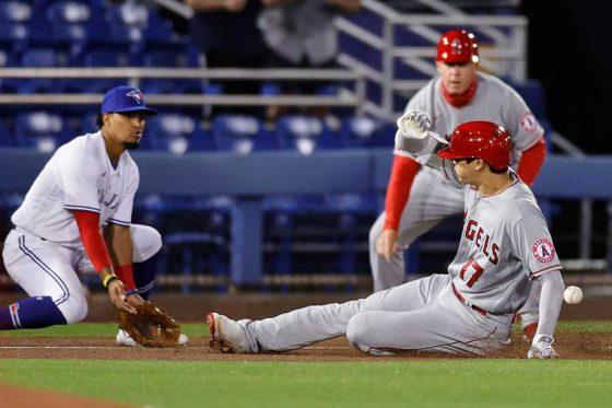 快足飛ばして今季2本目の三塁打を記録したエンゼルス・大谷翔平【写真:Getty Images】