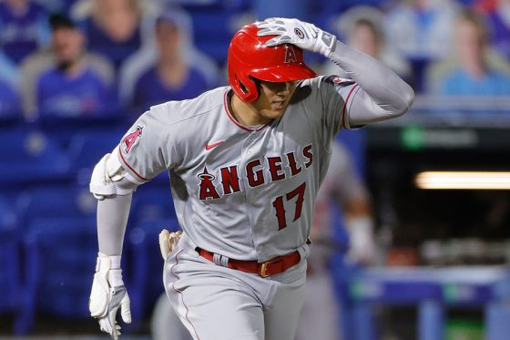三塁打を放ったエンゼルス・大谷翔平【写真:Getty Images】