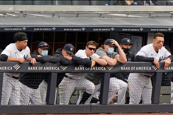 開幕から苦戦が続くヤンキース【写真:AP】