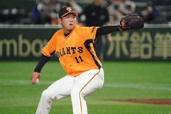 2番手で登板した巨人・平内龍太【写真:荒川祐史】